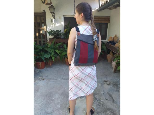 BACKPACK TRIANGULO RED and GRAY [2]
