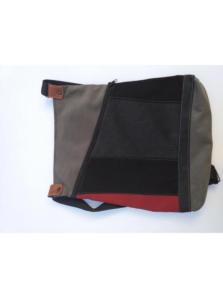 BACKPACK TRIÁNGULO BLACK, RED AND GRAY [1]