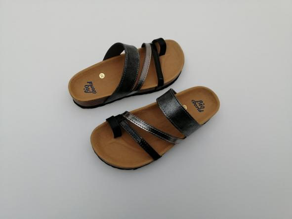 DEBOD, combi plata, acero y negros, NUEVO 2020, sandalias veganas, sandalias veganas mujer, calzado vegano, sandalias de tacón bajo, sandalias bioworld, vegan shoes.  [2]