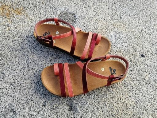 VALENCIA COMBINACION 1, sandalias veganas, sandalias veganas mujer, calzado vegano, sandalias de tacón bajo, sandalias bioworld, vegan shoes, sandalias de colores. [1]