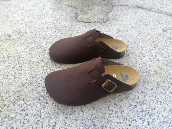 SUOMI MARRÓN SUEDE, Zuecos,  Zapatos veganos,, Zapatos abiertos, Zapatos Planos, zapatos de hombre, zapatos de mujer [1]