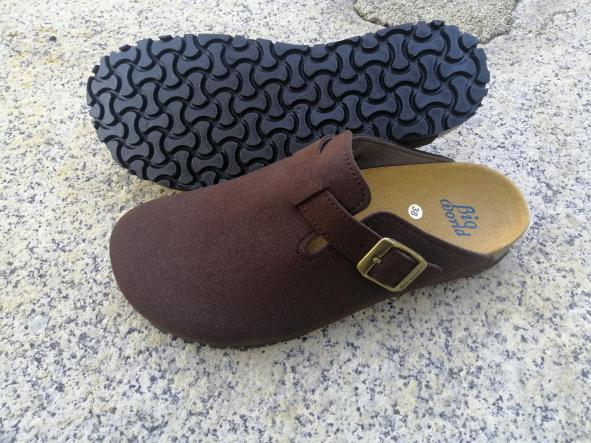 SUOMI MARRÓN SUEDE, Zuecos,  Zapatos veganos,, Zapatos abiertos, Zapatos Planos, zapatos de hombre, zapatos de mujer [2]