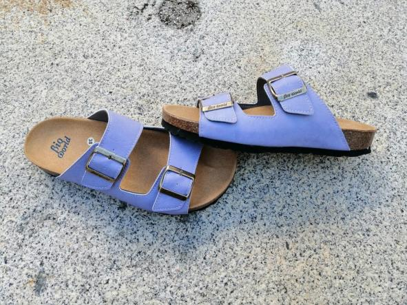 Victoria lila, edición limitada  sandalias veganas, sandalias veganas mujer, calzado vegano, sandalias de tacón bajo, sandalias bioworld, vegan shoes. [2]