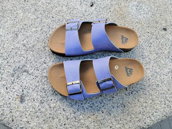 Victoria lila, edición limitada  sandalias veganas, sandalias veganas mujer, calzado vegano, sandalias de tacón bajo, sandalias bioworld, vegan shoes. [3]
