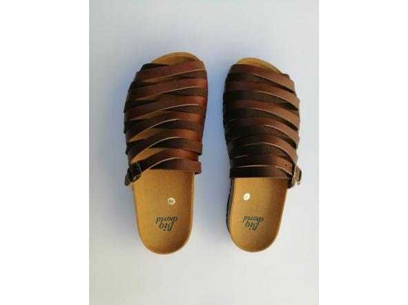 Alejandría marrón  sandalias veganas, sandalias veganas mujer, calzado vegano, sandalias de tacón bajo, sandalias bioworld, vegan shoes. [3]