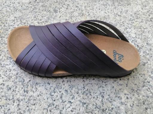 Jerusalem deep purple. sandalias veganas, sandalias veganas mujer, calzado vegano, sandalias de tacón bajo, sandalias bioworld, vegan shoes. [1]