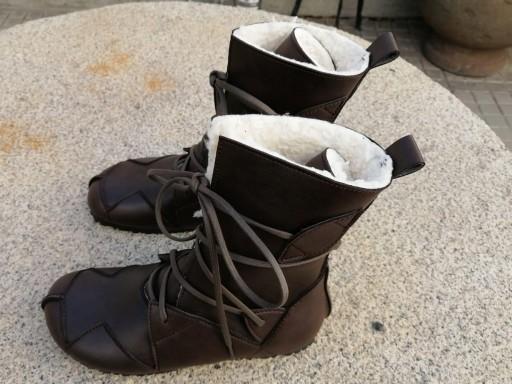 BOSQUE marrón oscuro con forro blanco tipo borrego, fake wool Envío Gratis, Botas Veganas, Botines Veganos, Zapatos de Invierno, Botas de Encaje [3]
