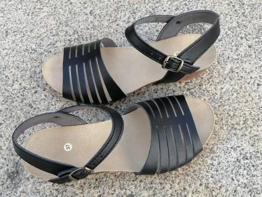 Marbella negro, Colección 100% HECHO A MANO, sandalias veganas, sandalias veganas mujer, calzado vegano, sandalias de tacón medio, sandalias bioworld, vegan shoes, sandalias negras.  [3]
