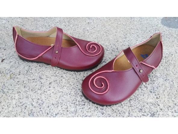 CARACOLA BURDEOS Zapatos veganos, Zapatos de diseño, Zapatos cerrados, Zapatos Planos, zapatos de hombre, zapatos de mujer [3]