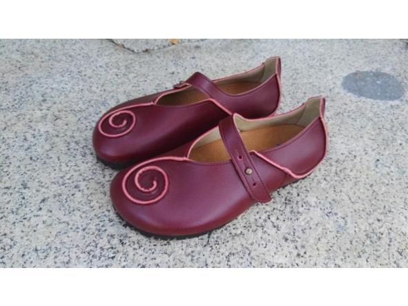 CARACOLA BURDEOS Zapatos veganos, Zapatos de diseño, Zapatos cerrados, Zapatos Planos, zapatos de hombre, zapatos de mujer [2]