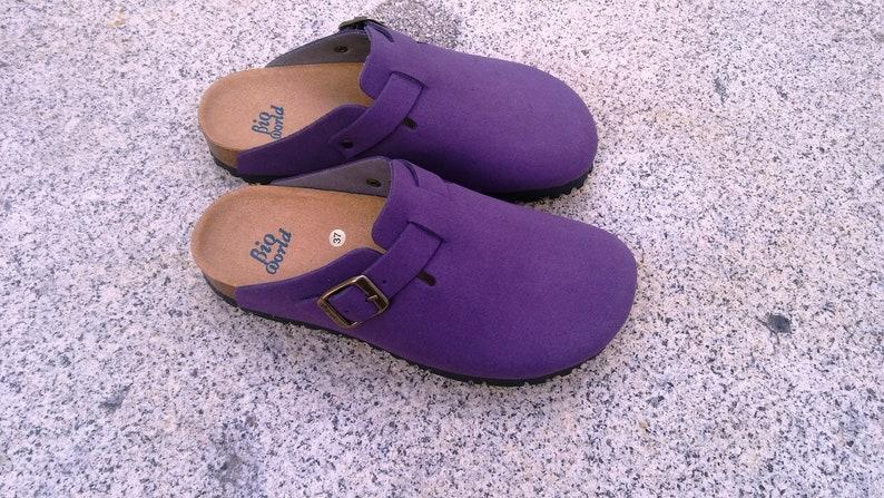 SUOMI PURPLE, Zuecos,  Zapatos veganos, Zapatos de diseño, Zapatos abiertos, Zapatos Planos, zapatos de hombre, zapatos de mujer