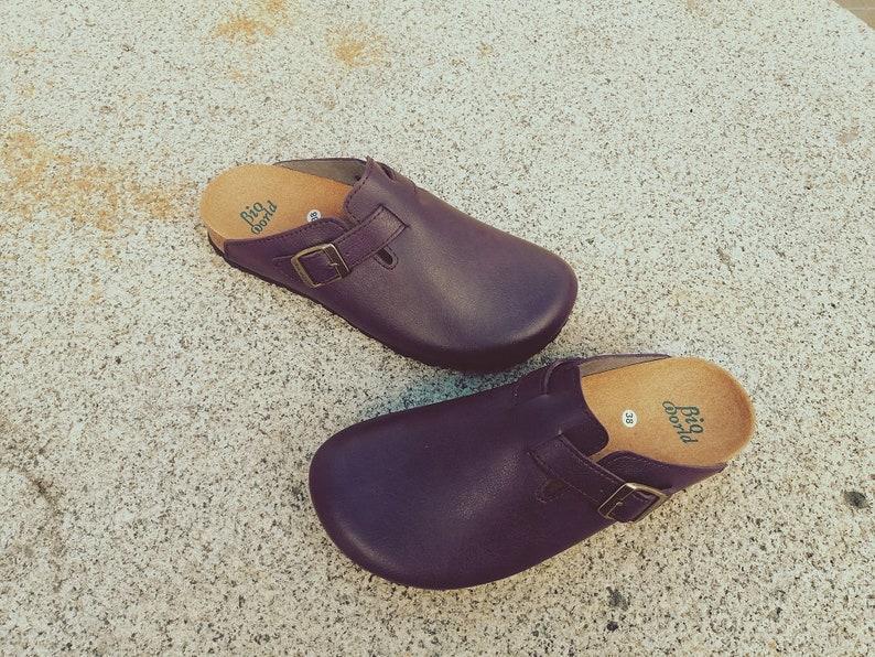 SUOMI PÚRPURA, Zuecos,  Zapatos veganos, Zapatos de diseño, Zapatos abiertos, Zapatos Planos, zapatos de hombre, zapatos de mujer