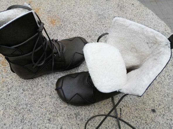 BOSQUE VERDE NEGRO, fake wool Envío Gratis, Botas Veganas, Botines Veganos, Zapatos de Invierno, Botas de Encaje [3]