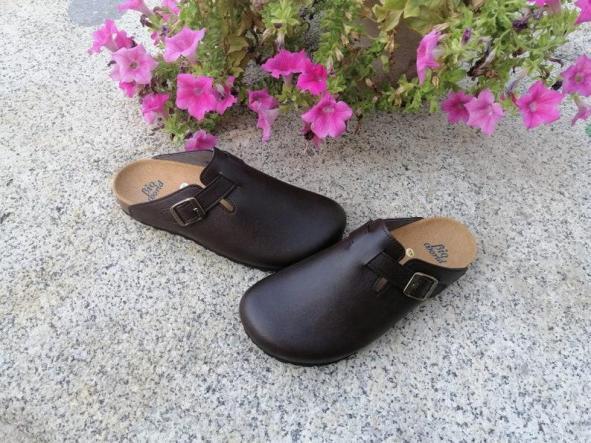 Suomi Marrón oscuro, Zuecos,  Zapatos veganos, Zapatos de diseño, Zapatos abiertos, Zapatos Planos, zapatos de hombre, zapatos de mujer [3]