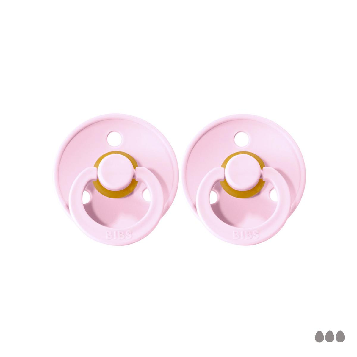 Pack de 2 Chupetes Bibs Baby pink/Baby pink 6-18 meses