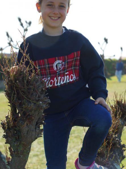 Sudadera de niño unisex modelo Escocia color azul marino