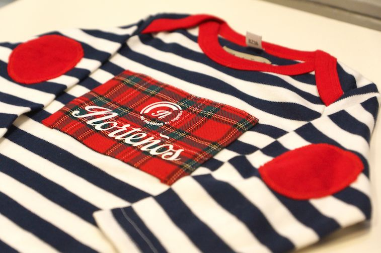 Camiseta de bebé manga larga Marine Escocia