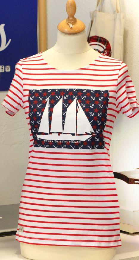 Camiseta de chica modelo barco