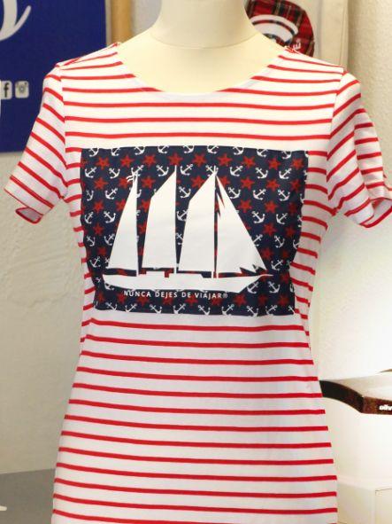 Camiseta de chica modelo barco [0]