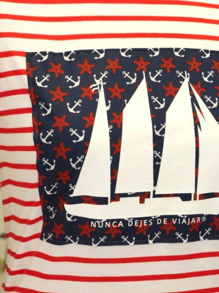 Camiseta de chica modelo barco [1]