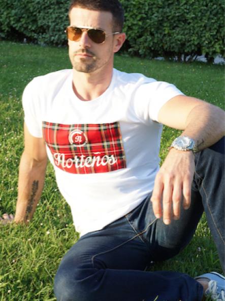 Camiseta de chico Escocia color blanco [1]
