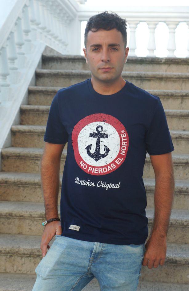 Camiseta azul marino NO PIERDAS EL NORTE