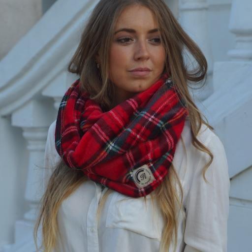 Cuello polar de cuadro Escocés color rojo [3]