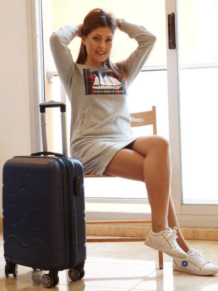 Vestido Sudadera Nunca dejes de viajar [2]