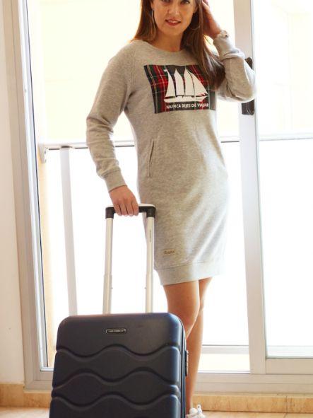 Vestido Sudadera Nunca dejes de viajar [1]