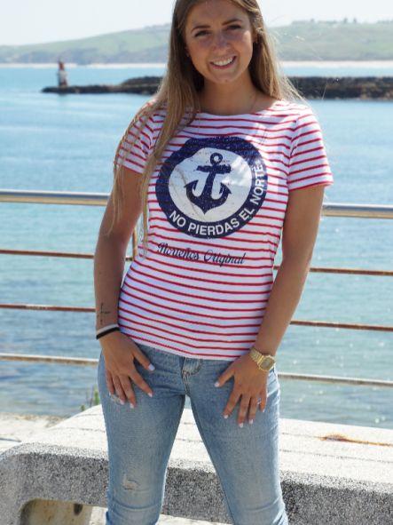 Camiseta marinera de mujer No pierdas el Norte
