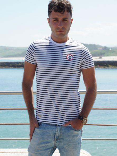 Camiseta marine diseño bordado No pierdas el Norte