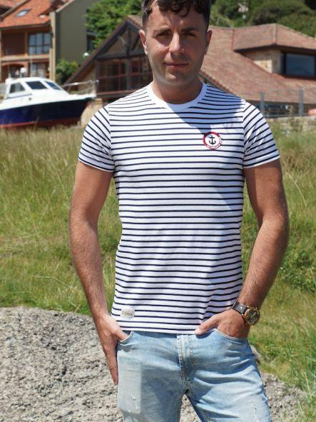 Camiseta marine diseño bordado No pierdas el Norte [2]