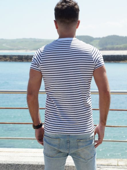 Camiseta marine diseño bordado No pierdas el Norte [3]