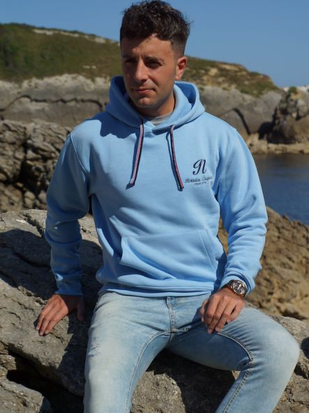 Sudadera Unisex azul claro