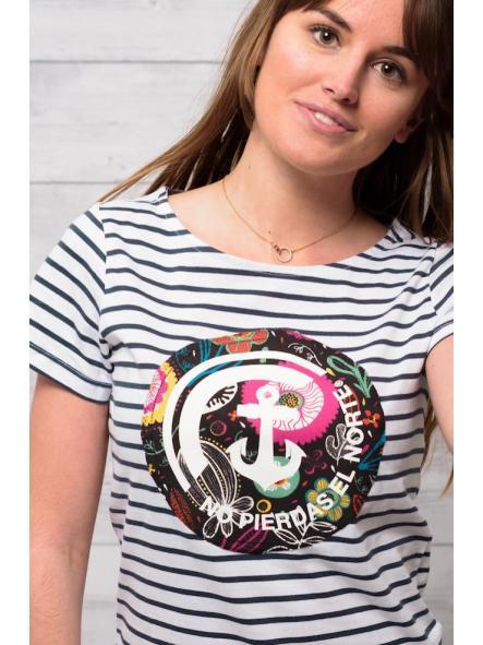 Camiseta marine manga corta estampado floral [2]