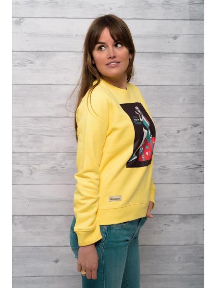 Sudadera de mujer modelo amarillo Nunca dejes de viajar [1]