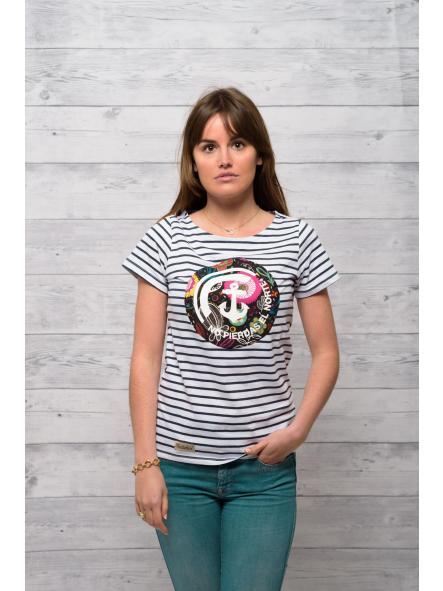 Camiseta marine manga corta estampado floral