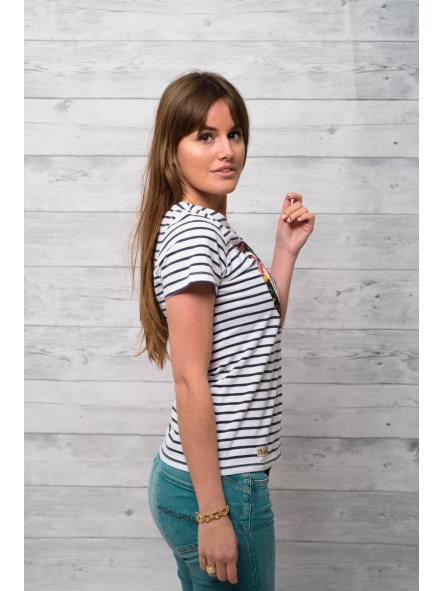 Camiseta marine manga corta estampado floral [1]