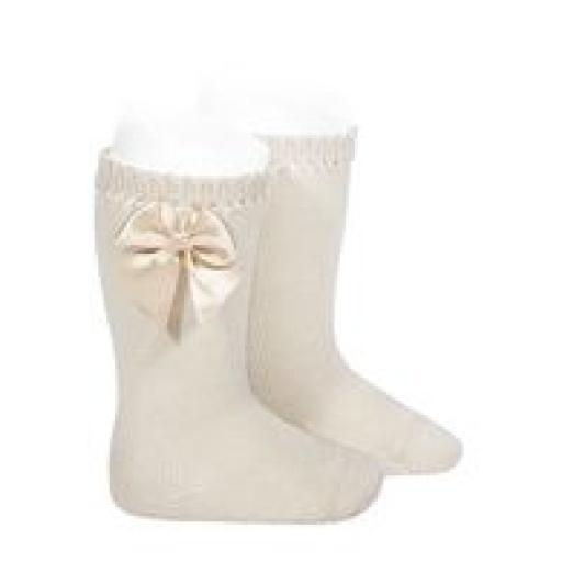 Calcetines altos de perlé con Lazo de Cóndor.  [2]