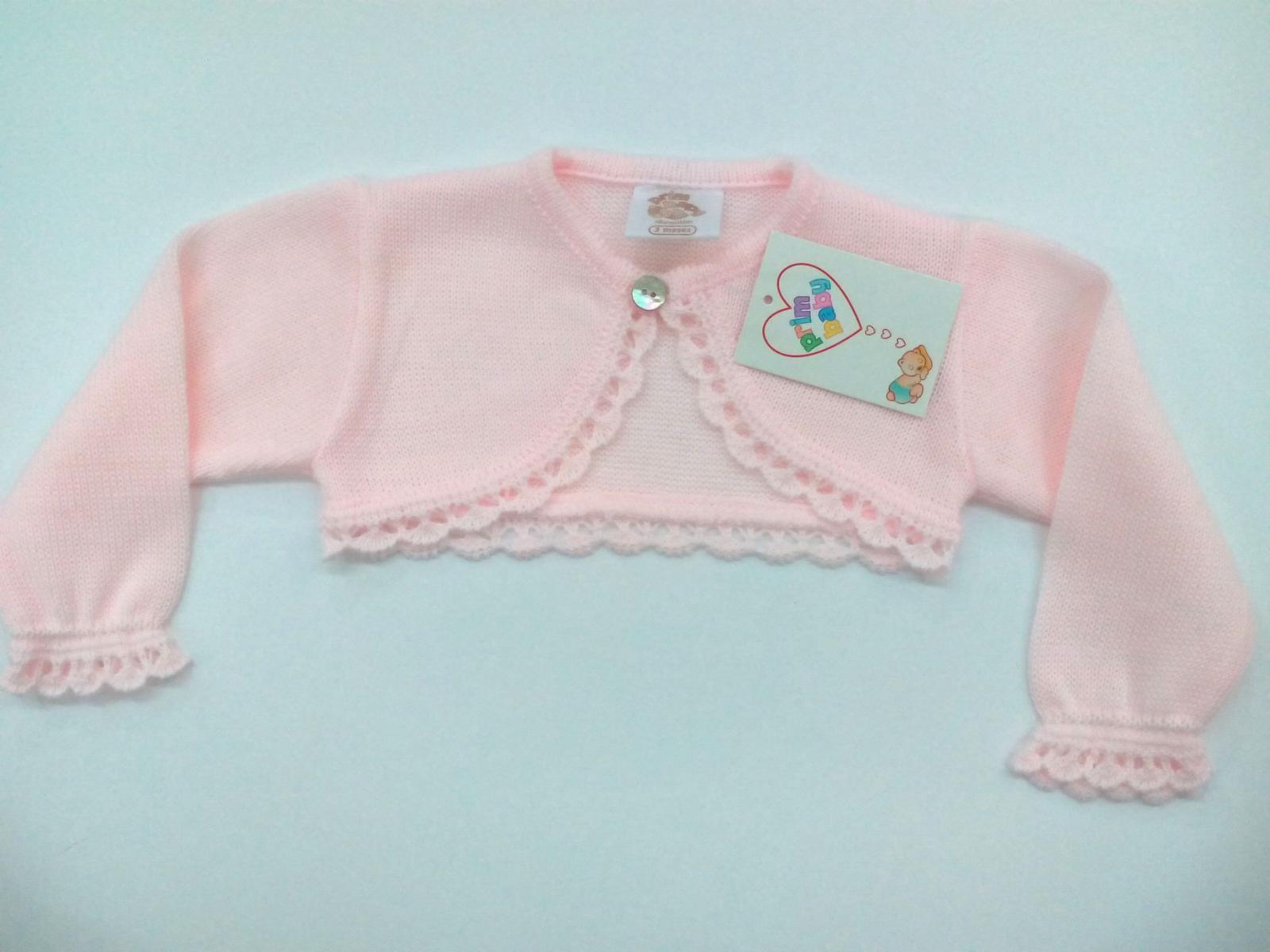 Chaqueta de niña rosa de perle .