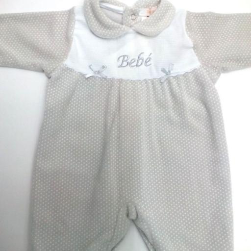 Pijama de bebé en gris motas de Popys [1]