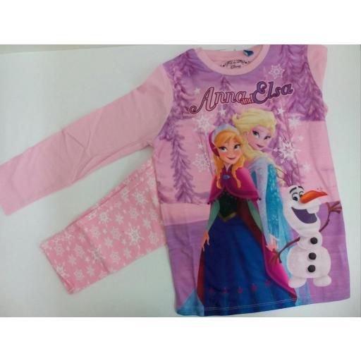 Pijama niña Frozen de algodón .