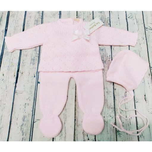 Chaqueta con polaina de bebé en rosa de Tony Bambino.