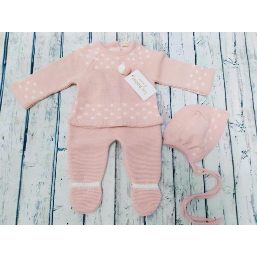 Conjunto de bebé en rosa palo de Tony Bambino.