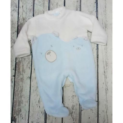 Pijama de bebè Oso azul de Deolinda.