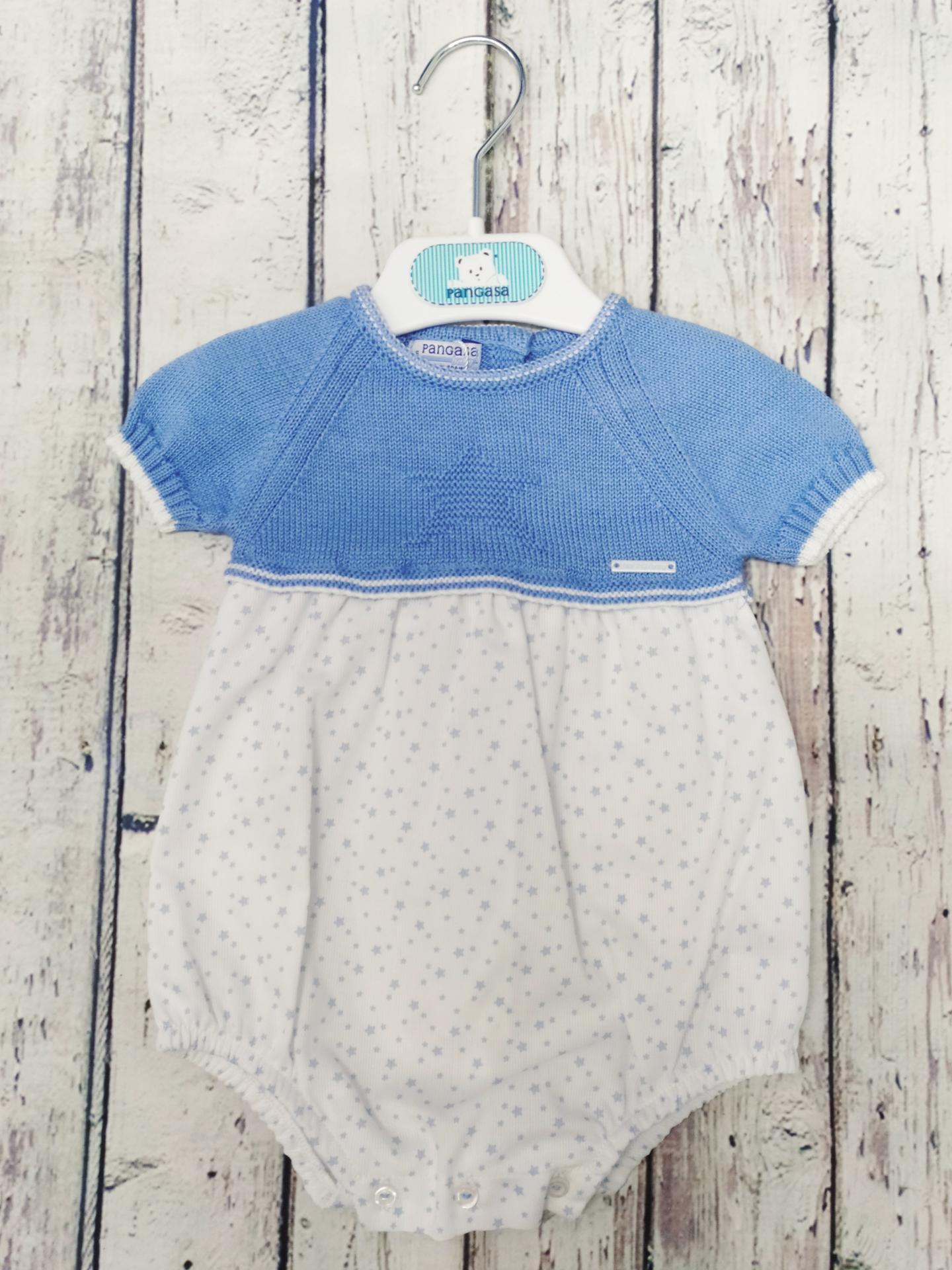 Pelele de bebé en  manga corta de  Estrellas de Pangasa.