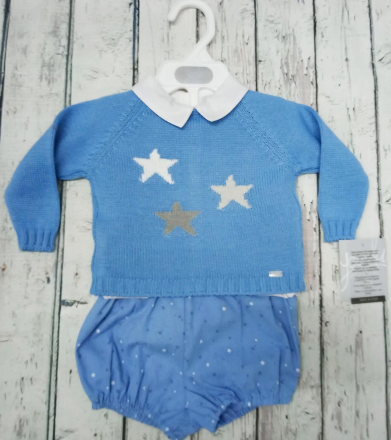 Conjunto de niño Estrellitas en azul de Yoedu.