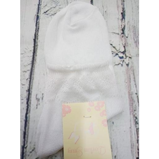 Calcetín de niña de hilo en blanco  de Dorian Gray [1]