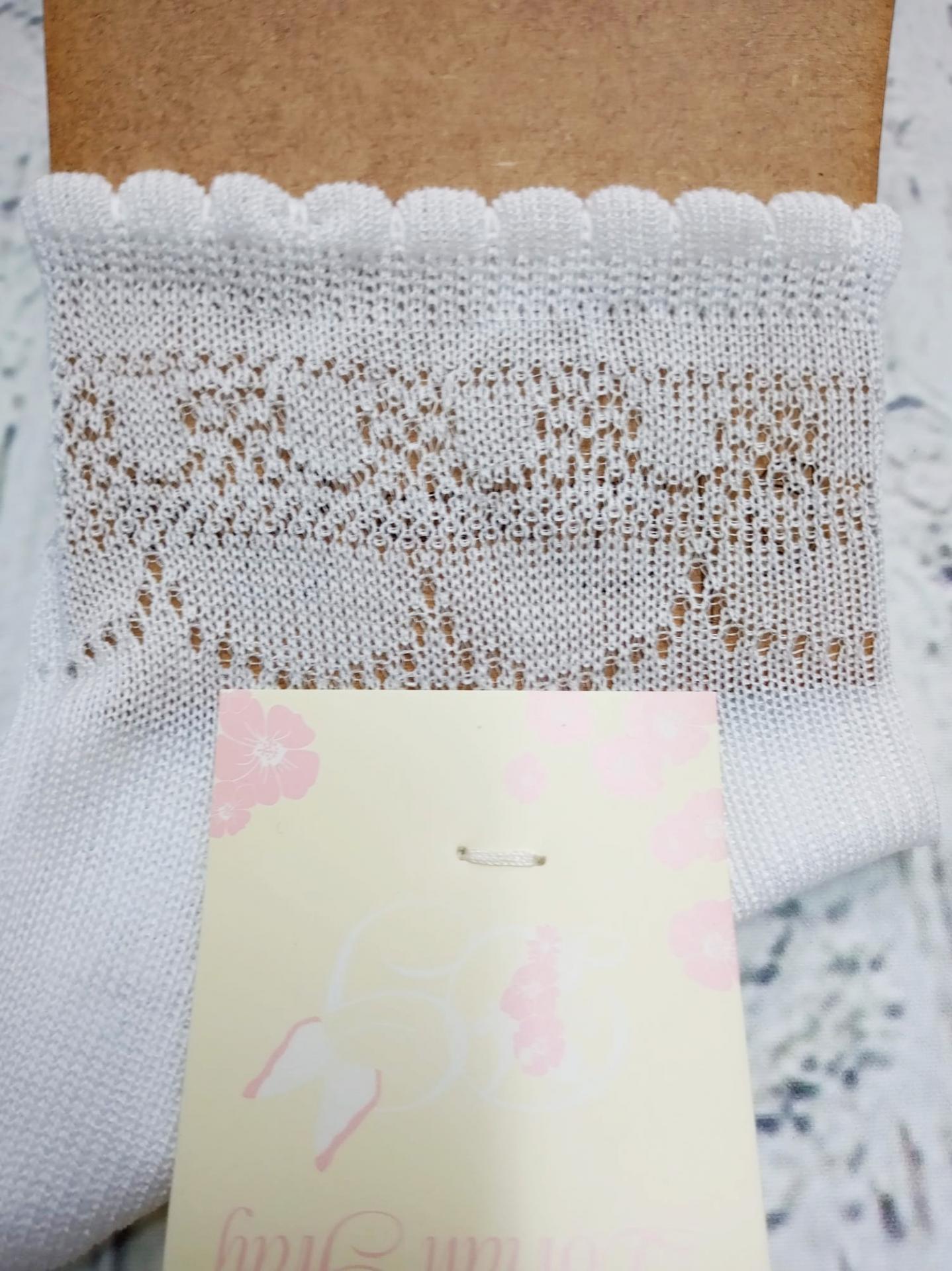 Calcetín de niña de hilo en blanco  de Dorian Gray