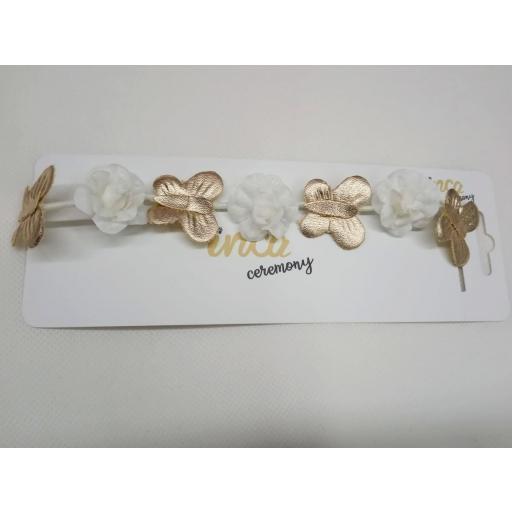 Diadema de pelo  Flores y Mariposas para Ceremonia. [1]